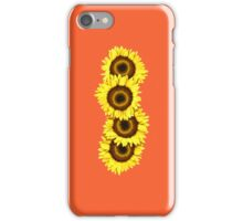 Iphone Case Sunflowers - Sunset Orange iPhone Case/Skin