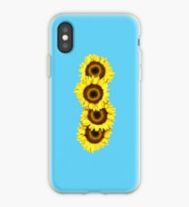 Iphone Case Sunflowers - Light Blue iPhone Case