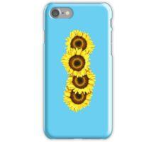 Iphone Case Sunflowers - Light Blue iPhone Case/Skin