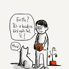 Gifts from cats.  by twisteddoodles