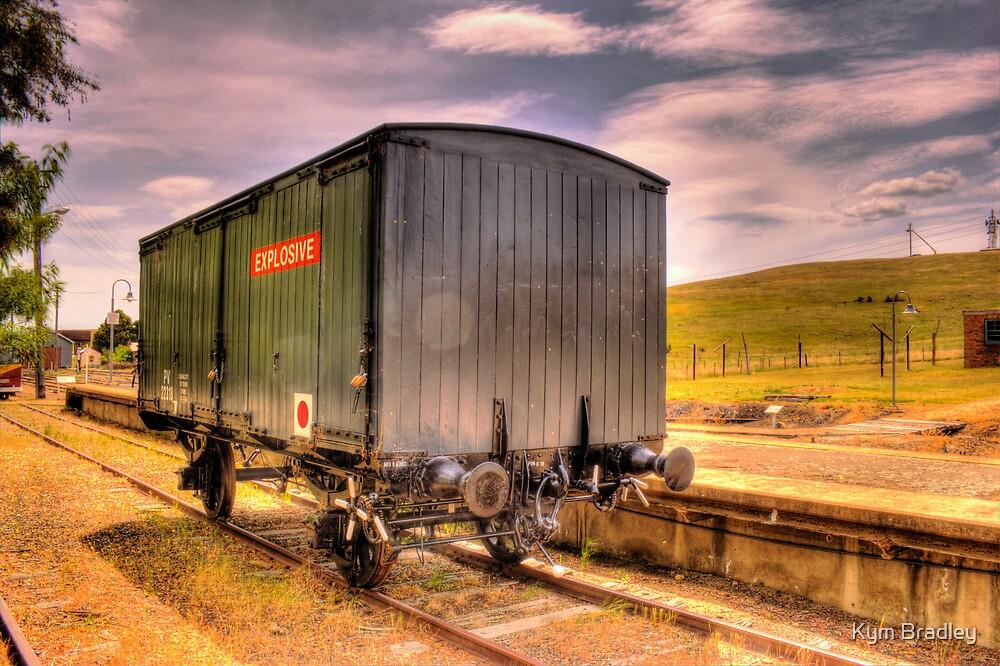 Explosives Wagon Cooma Railway NSW by Kym Bradley