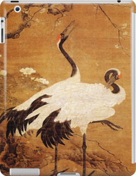 iPad Cover-Pair of Cranes by Pamela Phelps