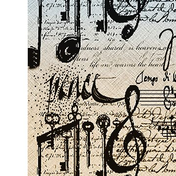Musical Notes ihone case # 2  by Lucindawind