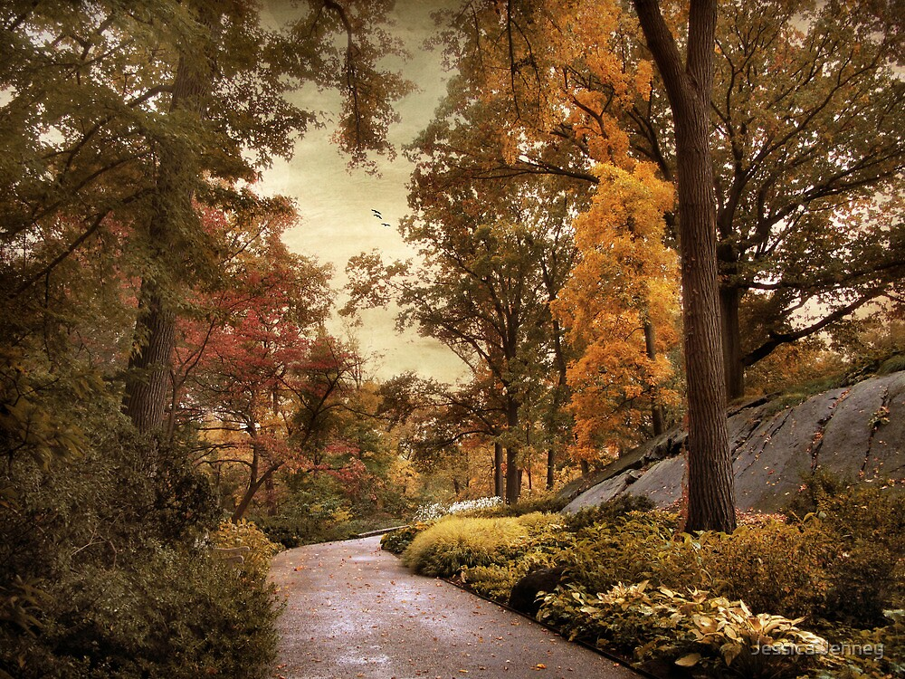 Azalea Garden in Autumn by Jessica Jenney