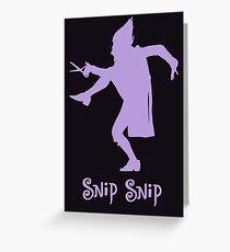 Shockheaded Peter - Scissor Man Greeting Card