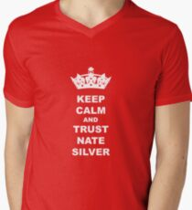 KEEP CALM AND TRUST NATE SILVER T-SHIRT Men's V-Neck T-Shirt