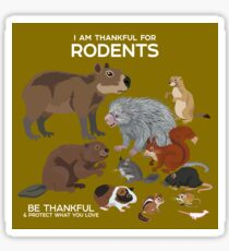 I Am Thankful For Rodents Sticker