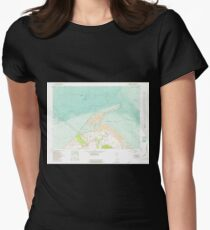 USGS Topo Map Washington State WA Dungeness 240904 1956 24000 Women's Fitted T-Shirt