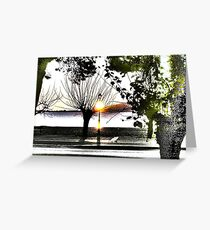 surrealistic arboreal morning Greeting Card