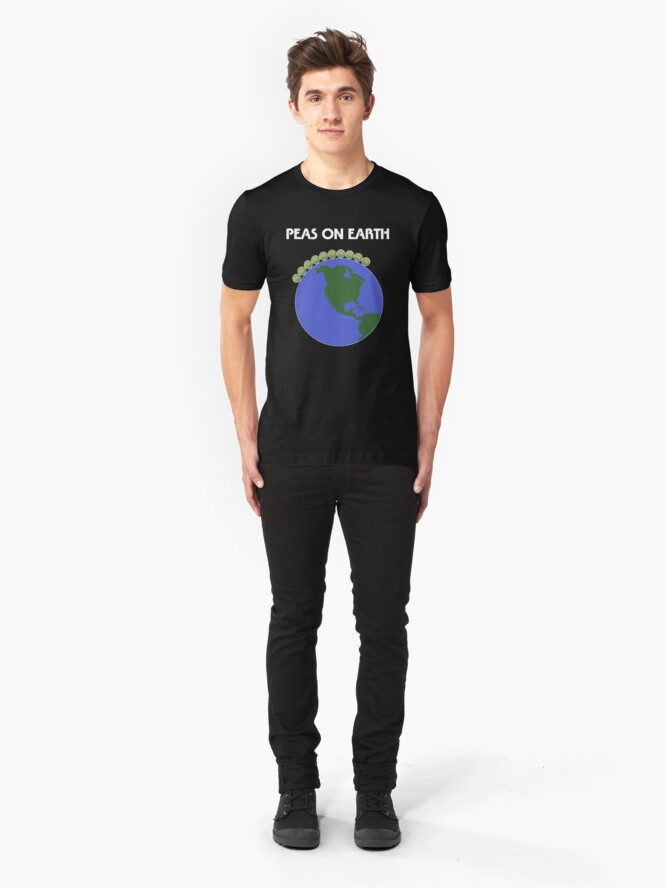 Alternate view of Peas On Earth Slim Fit T-Shirt
