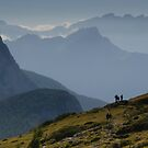 Rif Tissi, morning hikers by David Galson