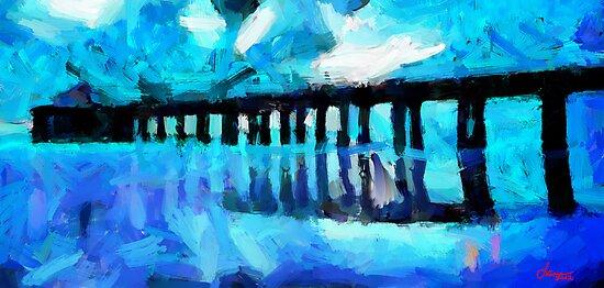 Bridge over the lake by DiNovici
