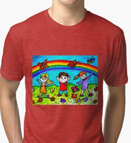 Catching butterflies Tri-blend T-Shirt