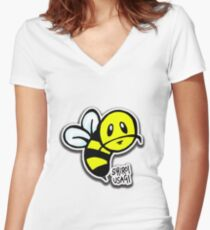 Buzzwad Women's Fitted V-Neck T-Shirt