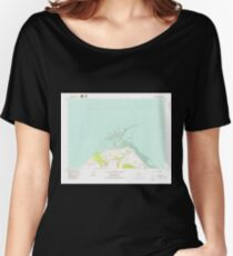 USGS Topo Map Washington State WA Dungeness 240903 1979 24000 Women's Relaxed Fit T-Shirt