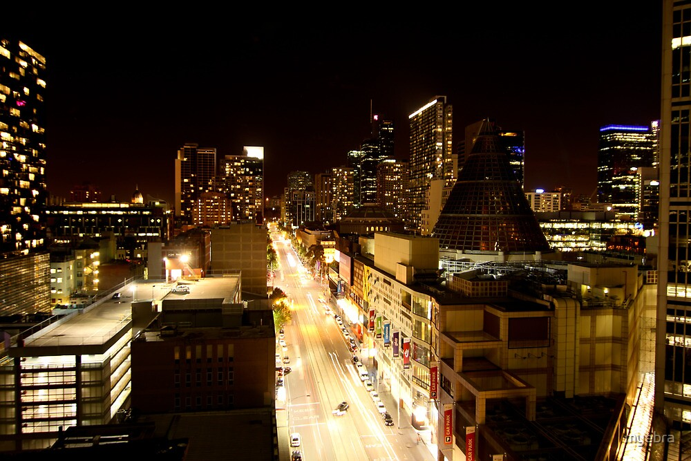 Night LaTrobe St  by myebra