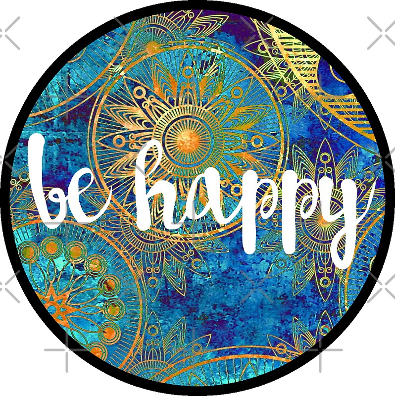 """Be Happy Sticker"" Stickers by Kristin Sheaffer 