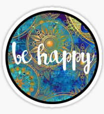 Be Happy Sticker Sticker