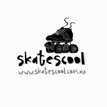 Skatescool Tee - Black writing by Skatescool