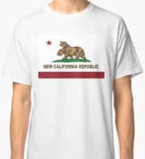New California Republic Flag Distressed Classic T-Shirt