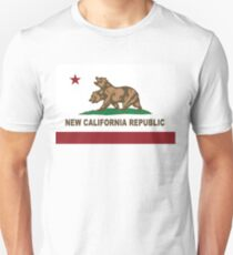 New California Republic Flag Distressed Unisex T Shirt