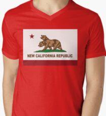 New California Republic Flag Distressed T-Shirt