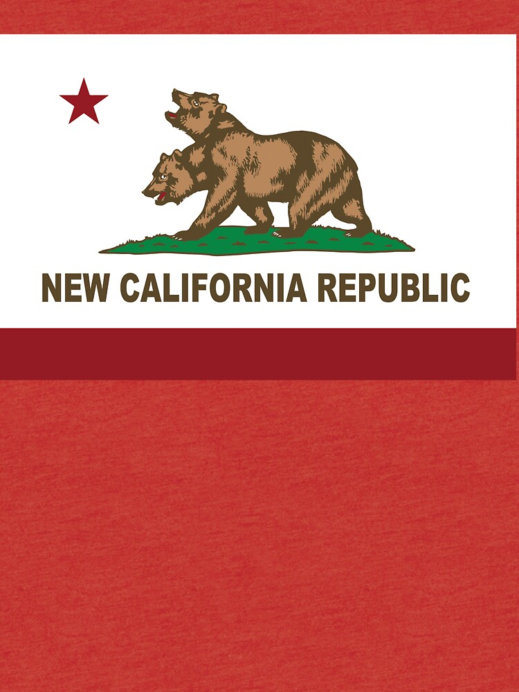 New California Republik Flagge Distressed von NorCal