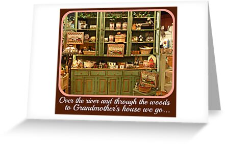 Christmas Card - To Grandmother's House We Go by Jane Neill-Hancock