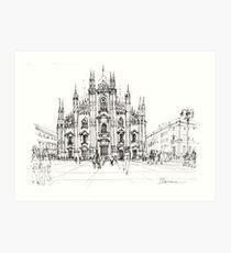 Duomo di Milano - schizzo Kunstdruck