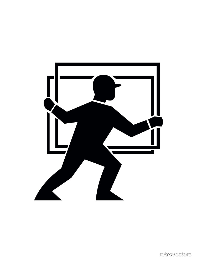 Worker Handling Delivering Glass Plate by retrovectors