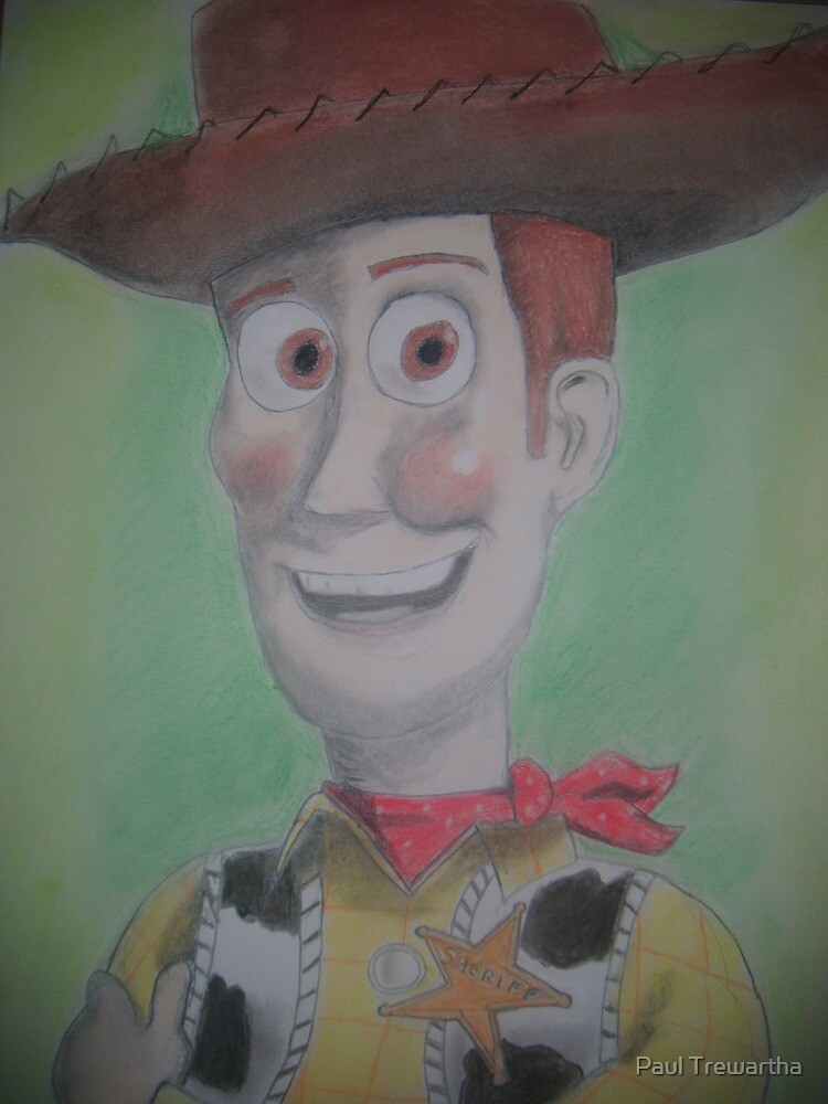 Free Hand Drawing of Woody by Paul Trewartha