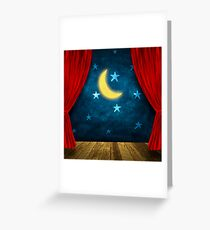 Theater stage Greeting Card