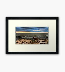 Turn Your Back To The Wind Framed Print