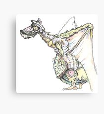 Pelicandragon coloured Canvas Print