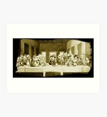 Last Supper Smash Bros Art Print