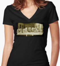 Last Supper Smash Bros Women's Fitted V-Neck T-Shirt