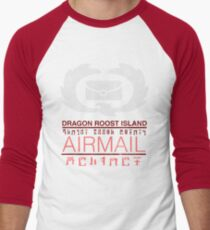 Zelda Wind Waker - Dragon Roost Island Airmail Men's Baseball ¾ T-Shirt