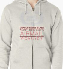 Zelda Wind Waker - Dragon Roost Island Airmail Zipped Hoodie