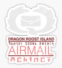 Zelda Wind Waker - Dragon Roost Island Airmail Sticker