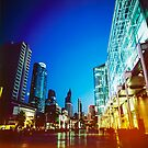 Bangkok city in twilight by naphotos