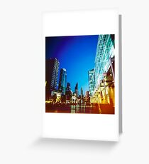 Bangkok city in twilight Greeting Card
