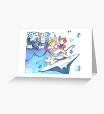 Fionna vs. Ice Queen Greeting Card