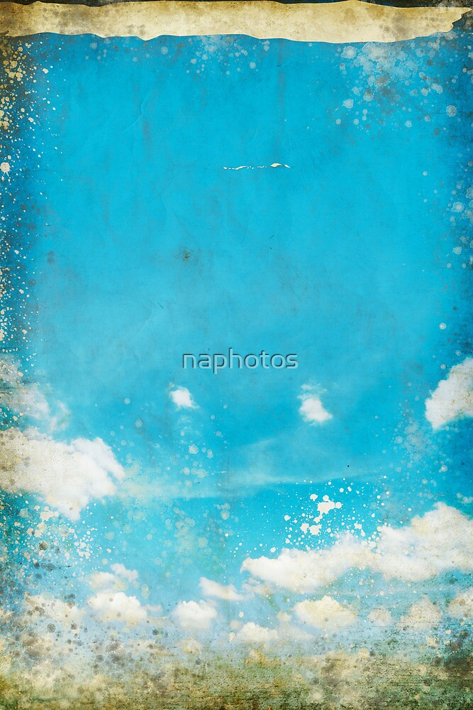 grunge blue sky and cloud by naphotos