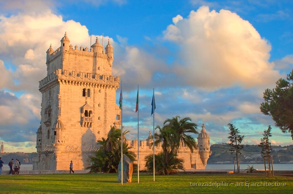 Torre de Belém. sunset by terezadelpilar ~ art & architecture