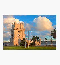 Torre de Belém. sunset Photographic Print