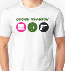 Original Team Arrow - Colorful Symbols - Weapons T-Shirt