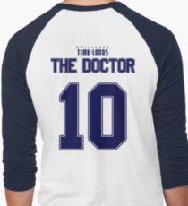 Team Tennant (The Doctor Team Jersey #10) BLUE Men's Baseball ¾ T-Shirt