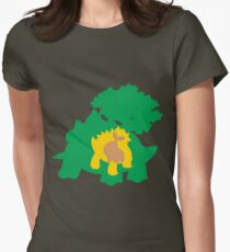 PKMN Silhouette - Turtwig Family Women's Fitted T-Shirt