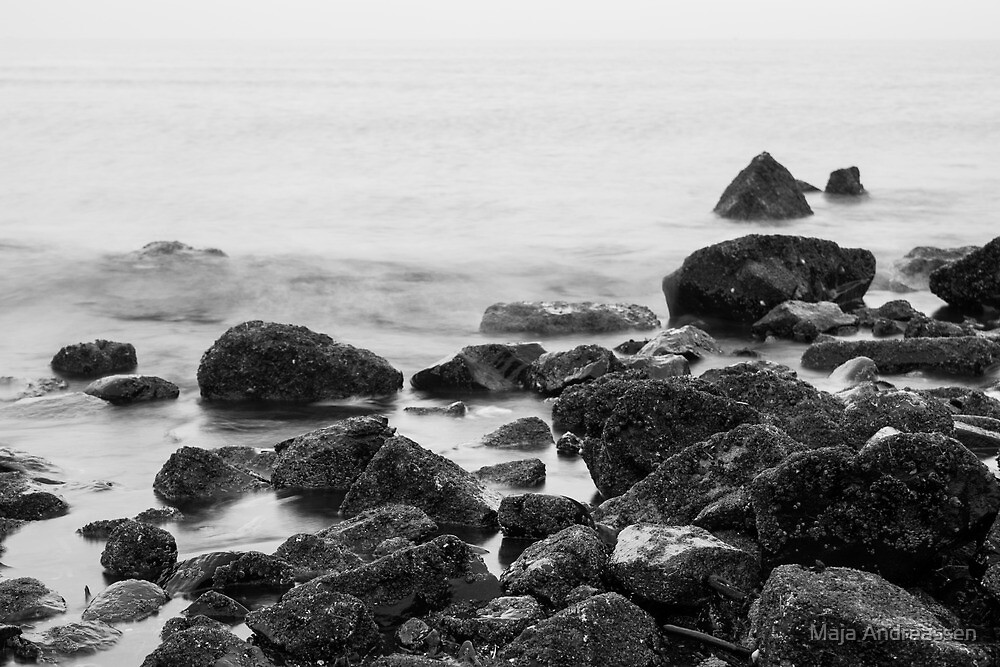 Rocks in the sea by Maja Andreassen