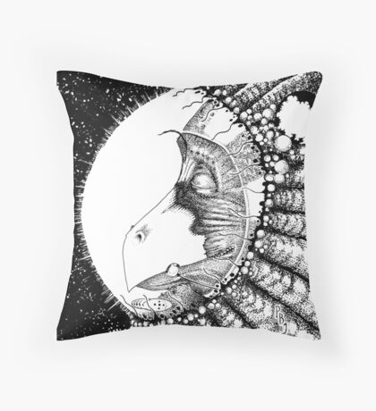 Tamsin Awakens Inks Throw Pillow